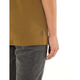 Icebreaker Ravyn Camiseta Manga Corta Cuello en V Mujer, curry